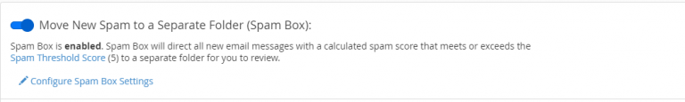 move new spam